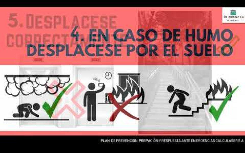 ¿Qué hacer en caso de un incendio?