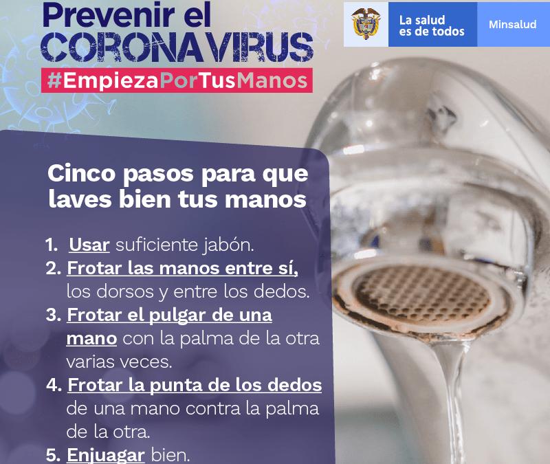 Prevención Coronavirus – Lavado de manos